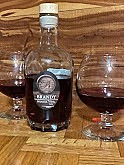 Brianza Brandy offers complex aromas and flavors. Wine lovers will find it very enjoyable. When you pour a glass, let it breathe just a bit, then enjoy the first aromas of dark spices and hazelnuts. Take a sip; the first flavor you taste are those same spices. Then when you swallow the taste is of a just picked blackberry, leaving you with a warm finish. This Chambourcin flavored brandy is a pleasant addition to the Brianza list of wines.